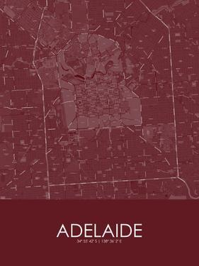 Adelaide, Australia Red Map