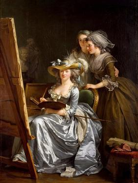 Self-portrait with Two Pupils, 1785 by Adelaide Labille-Guiard