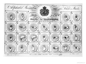 Sign Language Alphabet, 1827 by Adele Alavoine