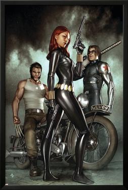 Black Widow: Deadly Origins No.1 Cover: Black Widow, Bucky and Wolverine by Adi Granov