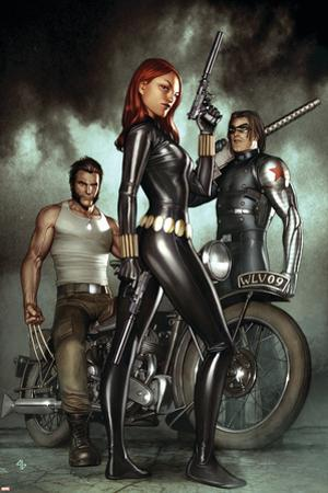 Black Widow: Deadly Origins No.1 Cover: Black Widow, Bucky and Wolverine