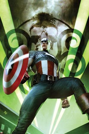 Captain America: Hail Hydra No.1 Cover: Captain America Posing with a Shield