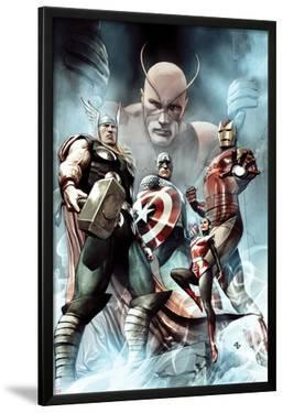Captain America: Hail Hydra No.2 Cover: Thor, Iron Man, Captain America, and Wasp by Adi Granov