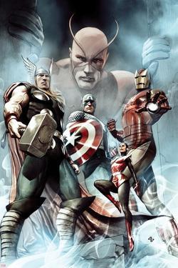 Captain America: Hail Hydra No.2 Cover: Thor, Iron Man, Captain America, and Wasp by Adi Granov