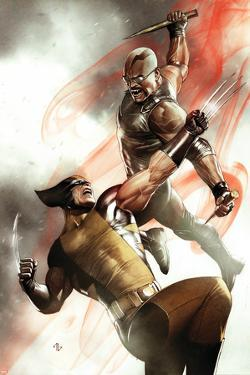 X-Men No.2 Cover: Wolverine and Blade Fighting by Adi Granov
