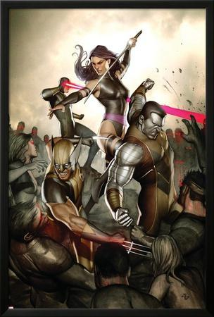 X-Men No.231 Cover: Wolverine, Colossus, Psylocke and Cyclops