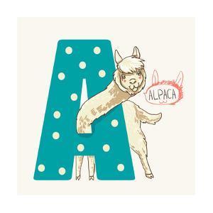 Letter A Alpaca by adikatz