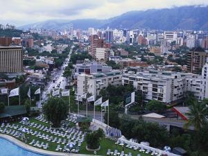 Aerial View of Las Mercedes, Caracas, Venezuela by Adina Tovy