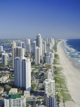 Aerial View of Surfers Paradise, the Gold Coast, Queensland, Australia by Adina Tovy