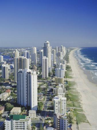 Aerial View of Surfers Paradise, the Gold Coast, Queensland, Australia