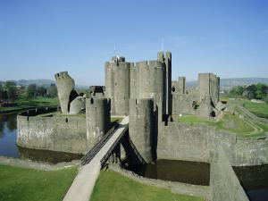 Caerphilly Castle, Glamorgan, Wales, UK, Europe by Adina Tovy