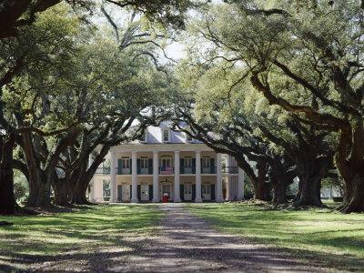 Exterior of Plantation Home, Oak Alley, New Orleans, Louisiana, USA