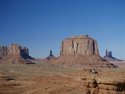 Navajo Lands, Arid Landscape with Eroded Rock Formations, Monument Valley, USA