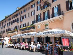 Outdoor Restaurant, Piazza Navona, Rome, Lazio, Italy, Europe by Adina Tovy