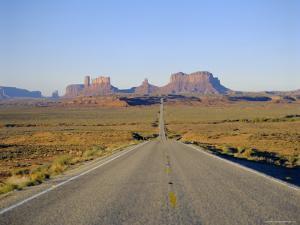 Road to Monument Valley, Navajo Reserve, Utah, USA by Adina Tovy