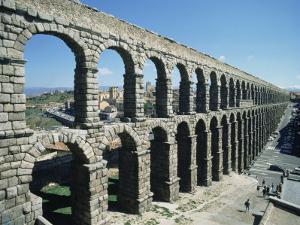 Roman Aqueduct, Segovia, Unesco World Heritage Site, Castilla Leon, Spain by Adina Tovy