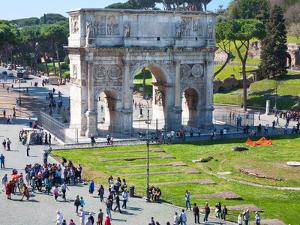 The Arch of Constantine, Rome, Lazio, Italy, Europe by Adina Tovy