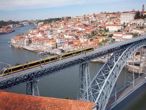 The Dom Luis 1 Bridge over River Douro, Porto (Oporto), Portugal by Adina Tovy