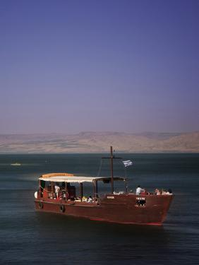 Tourist Boat on Lake Tiberias, the Sea of Galilee, North Israel, Israel, Middle East by Adina Tovy