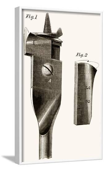 Adjustable Wood Drill Bit--Framed Art Print