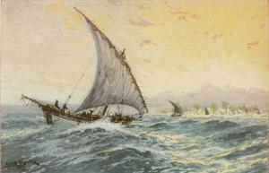 Arab Dhow Used on the East African Coast by Adolf Bock