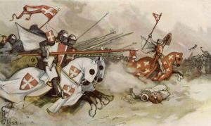First Crusade a Cavalry Charge by the Knights of Saint John Against the Saracens by Adolf Closs