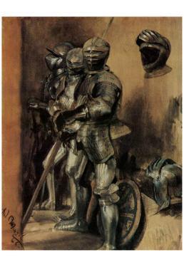 Adolf Friedrich Erdmann of Menzel (Armor, study) Art Poster Print
