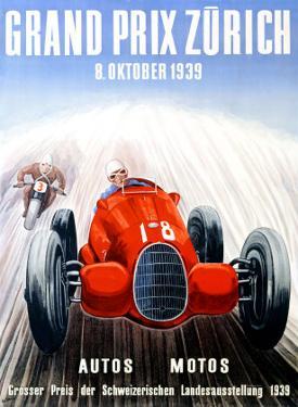 Grand Prix Zurich, 1939 by Adolf Schnider