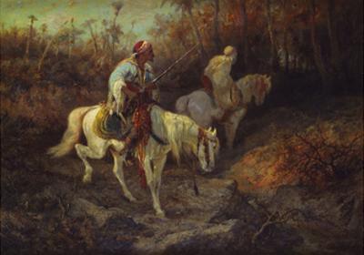 Arab Horsemen at the Edge of a Wood