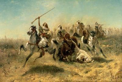 Arab Horsemen on the Attack, 1869
