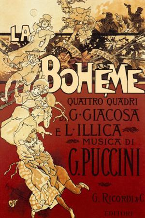 La Boheme, Musica di Puccini by Adolfo Hohenstein