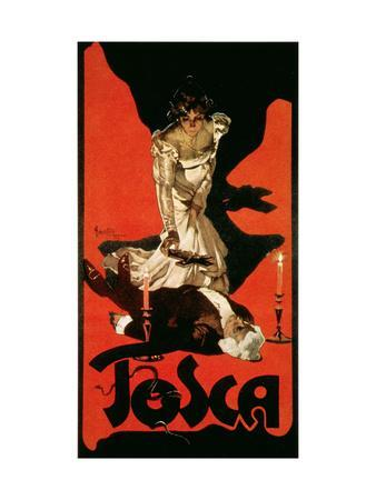 Poster Advertising a Performance of Tosca, 1899