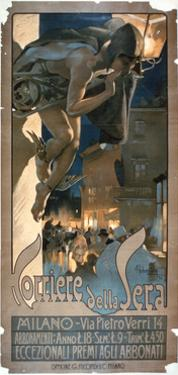 Poster Advertising the 'Corriere Della Sera', Printed in Milan, 1898 by Adolfo Hohenstein
