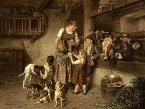 Fresh Milk, 1894 by Adolph Eberle