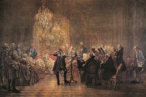 The Flute Concert, 1852 by Adolph Friedrich Erdmann von Menzel