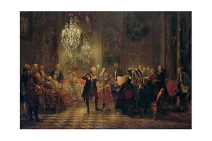Flute Concert with Frederick the Great in Sanssouci, 1850-1852 by Adolph Friedrich von Menzel