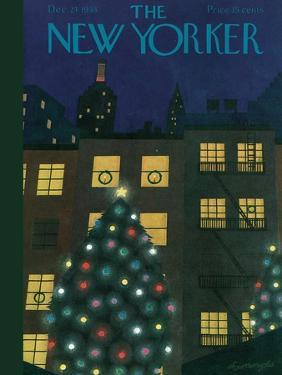 The New Yorker Cover - December 24, 1938 by Adolph K. Kronengold