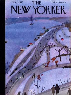 The New Yorker Cover - February 27, 1937 by Adolph K. Kronengold