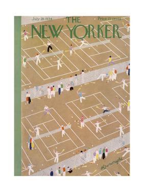 The New Yorker Cover - July 28, 1934 by Adolph K. Kronengold