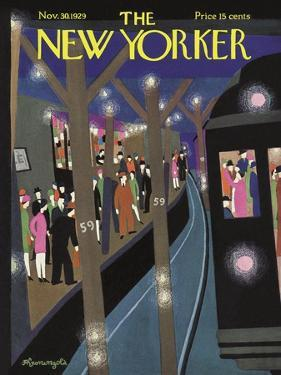 The New Yorker Cover - November 30, 1929 by Adolph K. Kronengold
