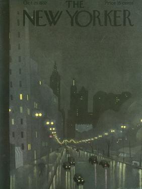 The New Yorker Cover - October 29, 1932 by Adolph K. Kronengold