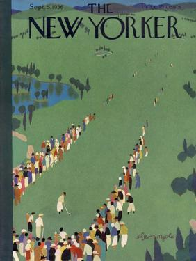 The New Yorker Cover - September 5, 1936 by Adolph K. Kronengold