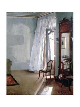 Room with Balcony, 1845 by Adolph Menzel