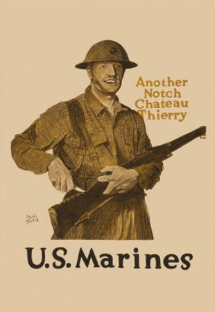 Another Notch, Chateau Thierry, US Marines by Adolph Treidler