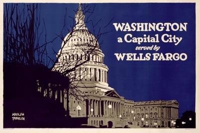 Poster Advertising Wells Fargo, C.1925