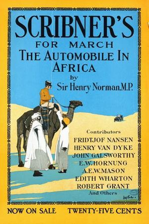 Scribner's for March, the Automobile in Africa by Sir Henry Norman, MP. by Adolph Treidler