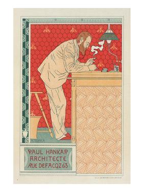 Paul Hankar Architect by Adolphe Crespin