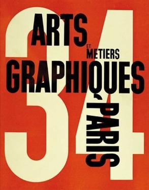 Arts et Métiers Graphiques Paris 34 by Adolphe Mouron Cassandre