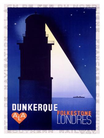 Dunkerque-Folkestone-Londres by Adolphe Mouron Cassandre
