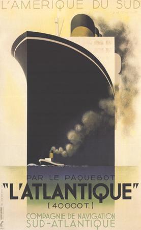 L'Atlantique by Adolphe Mouron Cassandre